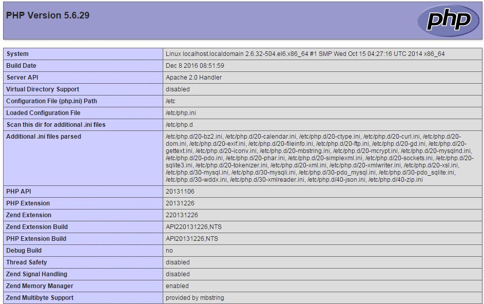 kiem tra cai dat php 5.6 thanh cong tren vps centos - hoangbcs.com