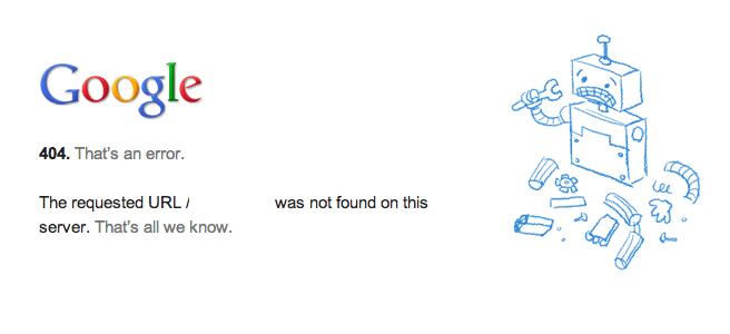 loi bao 404 not found tren google - hoangbcs.com