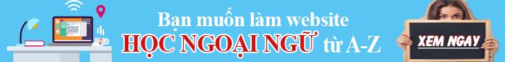 Banner thiet ke website hoc ngoai ngu online tu a - z hoangbcs.com