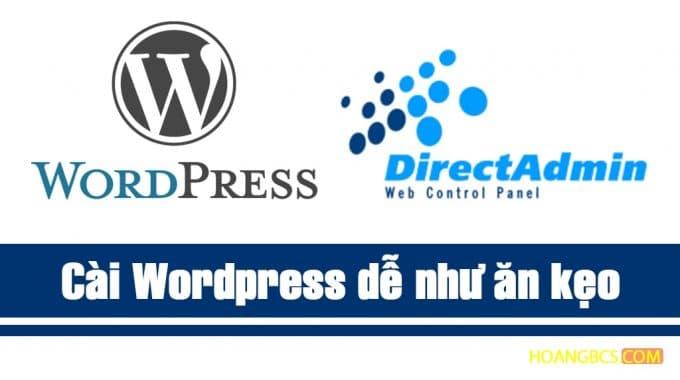 Tự cài đặt WordPress trên Directadmin từ A – Z