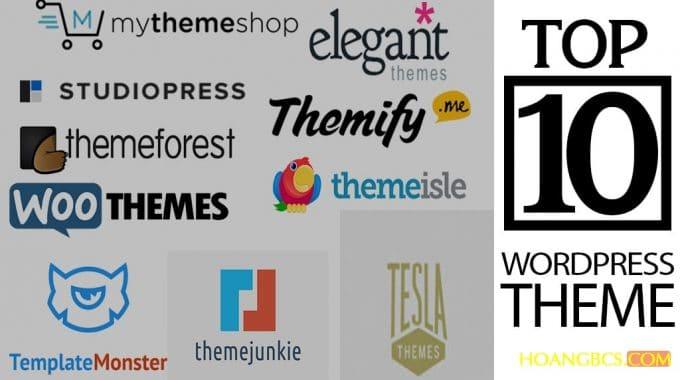 10 nhà cung cấp wordpress theme tốt nhất năm 2017
