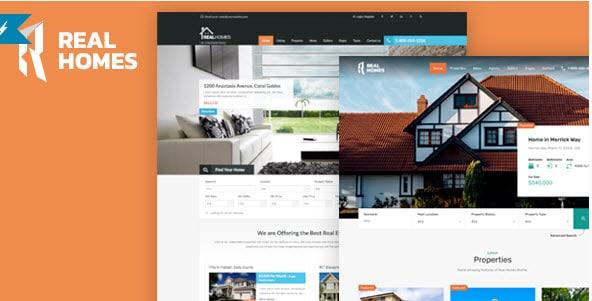 những theme bất động sản cho website wordpress