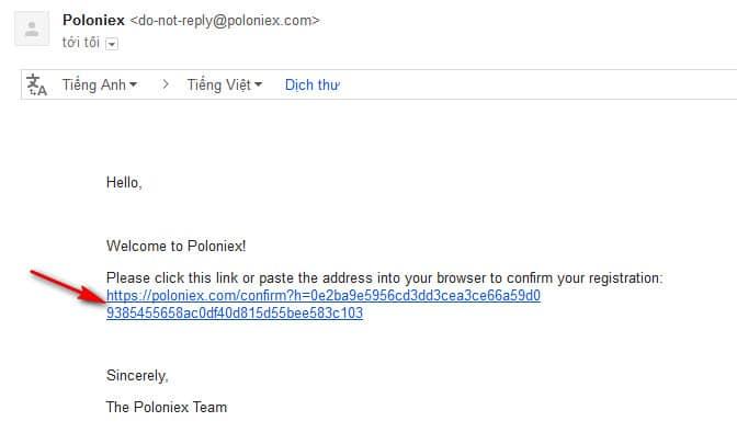 xác thực mail trên sàn poloniex