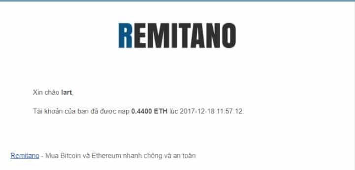 Hướng dẫn cách rút ethereum từ sàn binance về remitano thành công