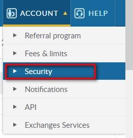Cấu hình bảo mật tài khoản trên sàn livecoin