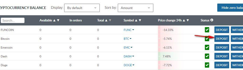 hướng dẫn tạo ví Bitcoin trên sàn livecoin nhanh chóng