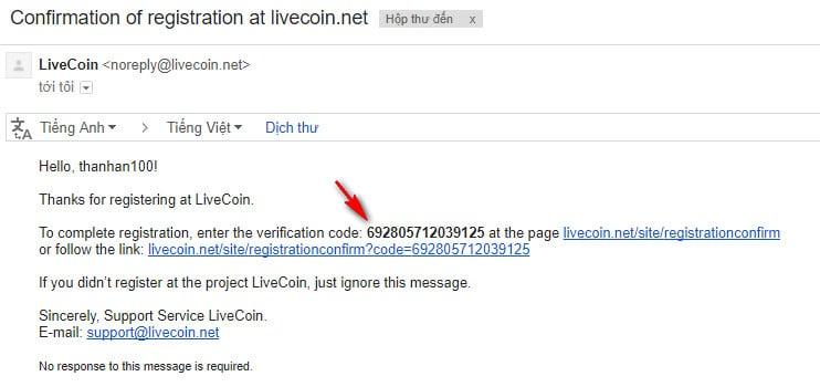 cách đăng ký trên sàn livecoin