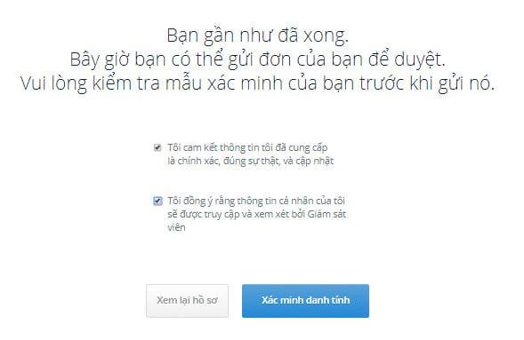 đăng ký xác thực thành công trên sàn coin trustdex vn