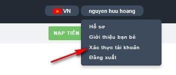 hướng dẫn xác thực tài khoản trên sàn trustdex