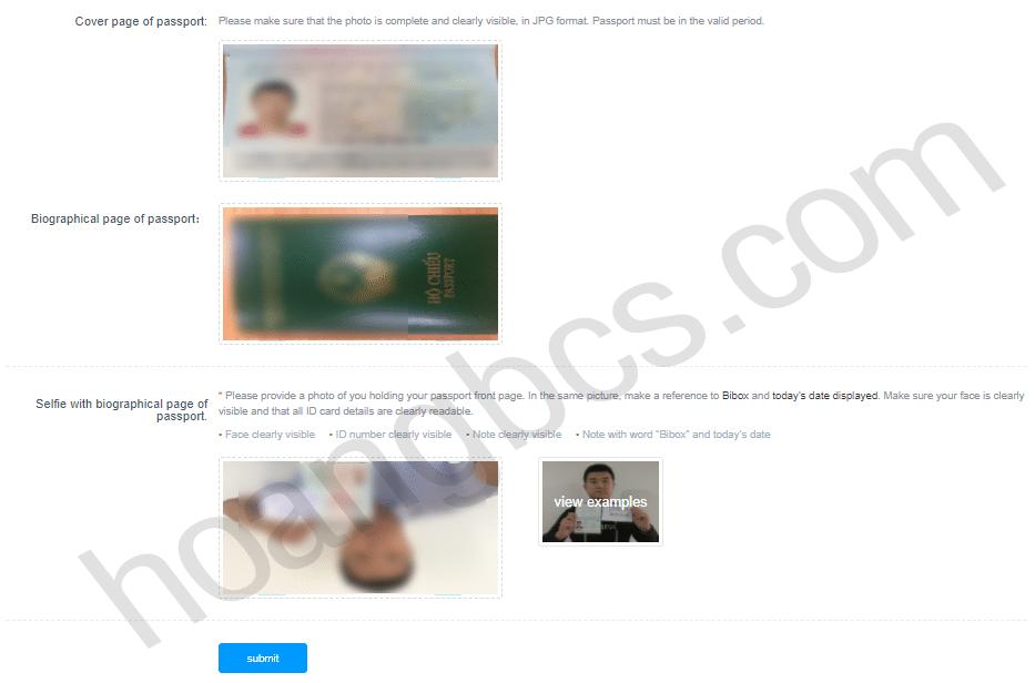 xác minh tài khoản lv2 trên sàn giao dịch coin bibox