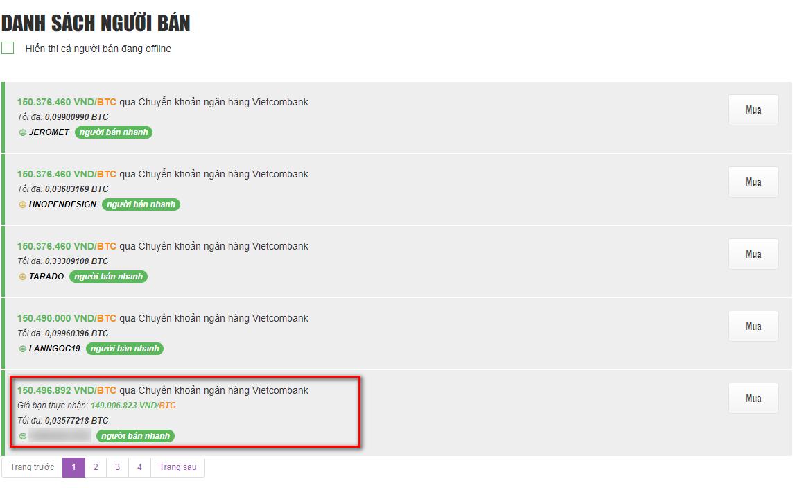 kiểm tra việc đăng quảng cáo bán bitcoin an toàn tại remitano