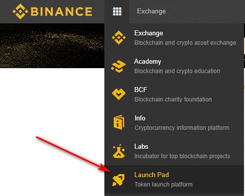 launch pad nền tảng phát hành token trên binance thông qua phương thức IEO