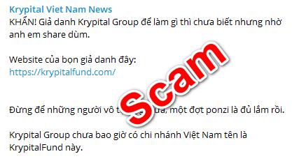 Lừa đảo website của một group tiền ảo