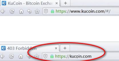 Giả mạo sàn giao dịch Kucoin