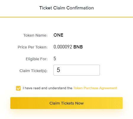 claim ticket trên launch pad