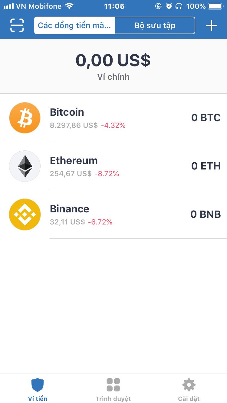 ví trữ tài sản ảo bitcoin altcoin